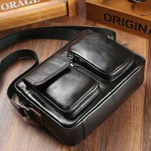 Genuine Leather Business Casual Shoulder Bag Messenger Bag