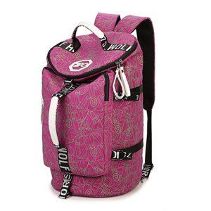 Kvinnor Män Multifunktionell Canvas Stor ryggsäck Crossbody Bag Travel Handbag
