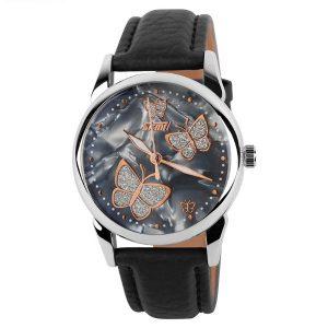 SKMEI 9079 Butterfly PU Leather Band Life Waterproof Women Quartz Wrist Watch