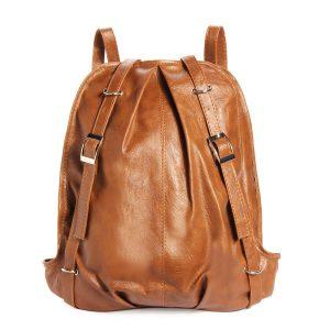 Korean Fashion PU Leather Casual Backpack Lady Shoulder Handbag