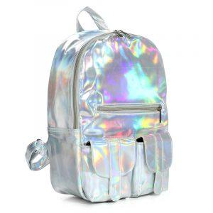 Hologram Laser Skolväska Studenter Harajuku Preppy Style Ryggsäck