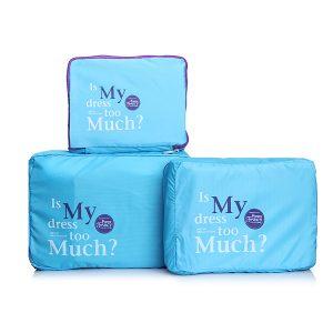 3 st resbagage förvaring organisator förpackning väska kläder fodral påse