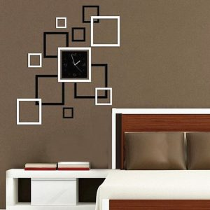 DIY Mirror Wall Clock Sticker Modern Frame Sticker Home Decoration