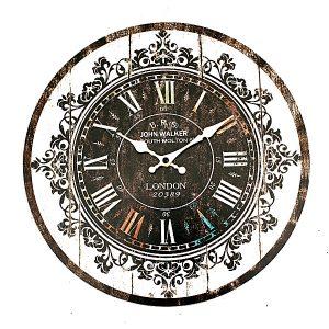 Väggklocka Tracerier Vintage Rustik Shabby Art Clock Chic hemmakontor Cafe Dekoration