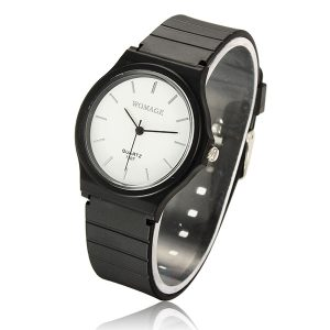 WOMAGE Fashion Plastic Candy Color Quartz Watch