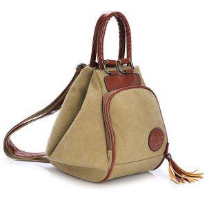 Kvinnor Män Canvas Tassel Ryggsäck Casual Diagonala handväskor Multifunktionella axelväskor