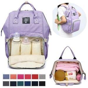 Diaper Bag Backpack Waterproof Durable Multifunctional Bag