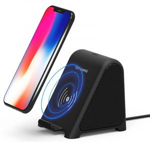 2 In 1 R8 Wireless Charger bluetooth Speaker Stereo Mini Portable Desktop Dual Units Speaker