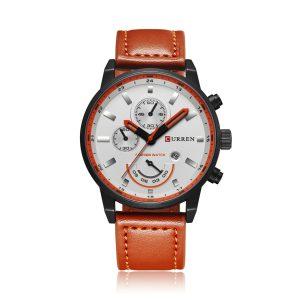 CURREN 8217 Business False Three Small Dial Quartz Watch