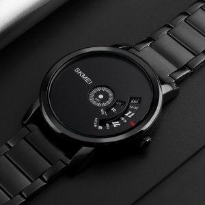 SKMEI 1260 Kreativ klocka Lyxig manlig rostfritt stålrem kvarts Business armbandsur