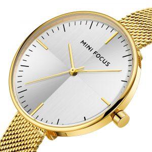 MINI FOCUS MF0275L Ultra Thin Mesh Strap Women Quartz Watch
