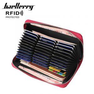 Baellerry Women's RFID Faux Leather 36 Card Slots Wallet Purse
