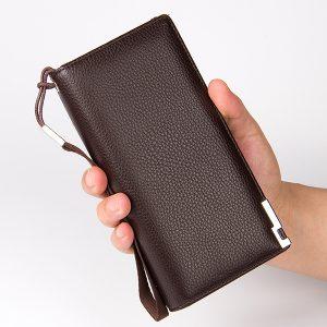 Män PU-läderkopplingväska Handväska Handväska Organizer Checkbook Plånbokskortväska