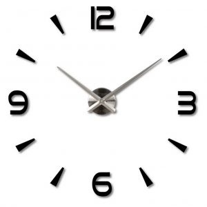 Frameless Large 3D DIY Wall Clock Mute Mirror Stickers Hemmakontor Skoldekoration