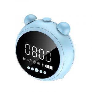 [bluetooth 5.0] Bärbar trådlös Bluetooth-högtalare Dubbel väckarklocka LED-display FM-radio TF-korthögtalare med mikrofon