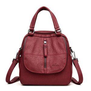 Fashion Plaid Handbags Multipurpose Backpack Shoulder bags