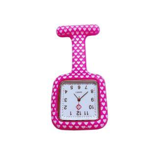 Rubber Square Clip Nurse Watches Multicolor Pocket Watch