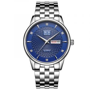 ANGELA BOS 8011 Business Style Men Watch Calendar Rhinestones Quartz Wrist Watch