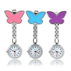 Butterfly Nurse Brooch Watch