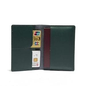 Men Genuine Leather Passport Holder Wallet Card Holder