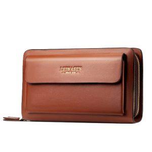 Men Business Clutch Handbag PU Leather Phone Bag