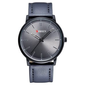 CURREN 8233 Mode manliga läder kvartsur Elegant affärsmän stil armbandsur