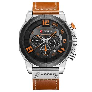 CURREN 8287 Chronograph Quartz Watch Display Date and Time Men Wrist Watch