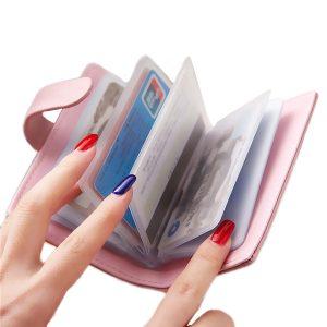 Flower Design Hasp 20 Card Holder Candy Color Matte Business ID Credit  Card Case