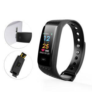 KALOAD CK17S Hjärtfrekvens Blodtryck Oxygen Monitor IP67 Vattentätt Smart Sportarmband