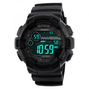 SKMEI 1243 Män Vattentät Chronograph Sport Outdoor Swimming LED Digital Watch