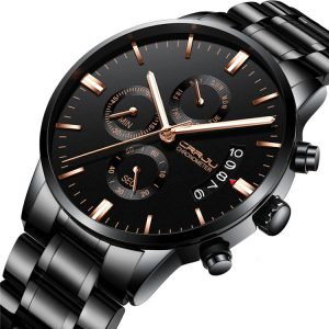 CRRJU 2222 Chronograph Full Steel  Business Style Men Watch