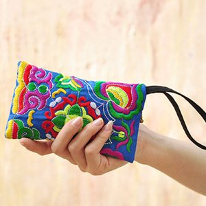 National Style Fashion Broderiväska Purse Clutch Bag