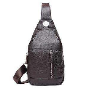 Män Elegant läder Crossbody Axelväska Business Casual Sling Bag för 7,9 tum Ipad