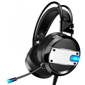 A10 3,5 mm E-sport Gaming Lysande hörlurar Brusreducering HiFi trådbundna hörlurar med mikrofon