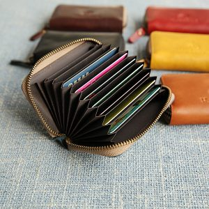Men Genuine Leather Original Vintage Card Holder
