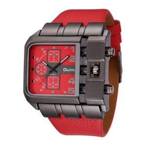 OULM 3364 Fashionable  Square Dial Creative Watch