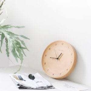 About Time Mute Logs Wooden Simple Wooden Metal Pointer Wall Clock Home Decoration from Xiaomi Youpin