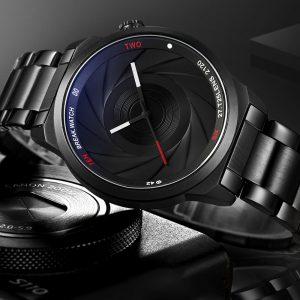 BREAK T25 Fotografi tema armbandsur rostfritt stål band kvartsur