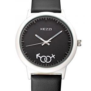 Cute Pattern PU Leather Band Boys Girls Watch Student Quratz Wrist Watch