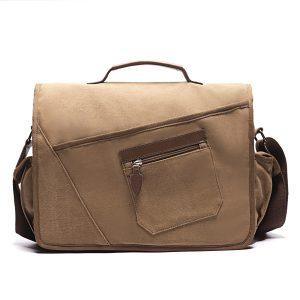 Ekphero Män Retro Messenger-väska Stötsäker axelväska