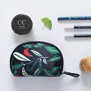 Kvinnors Nylon vattentätt skaltryck Kosmetisk väska förvaringsväska