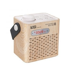 LOCI M80 Portable Wireless Bluetooth Speaker Desk Clock LCD Display Audio Mini mp3 Radio Player