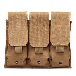 Drop Leg Triple Mag Pouch Holder MOLLE Magazine Pouch Cartridge Clip Pouch