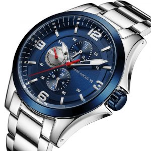 MINI FOCUS MF0199G Army Chronograph Stainless Men Watch