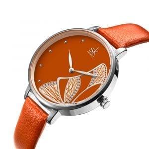 SHENGKE SK K0118 Butterfly Pattern Women Quartz Watch