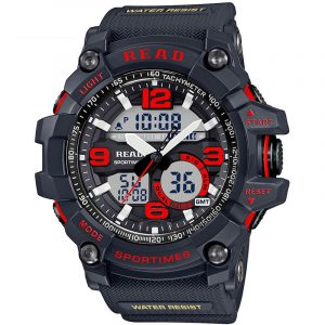 LÄS R90001 Dual Display Men Chronograph Digital Watch