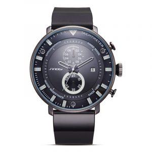 SINOBI 9689 Mode herrklockor Lyxig multifunktion Kronograf Militär kvarts armbandsur