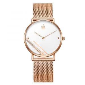 SHENGKE SK K0106 Creative Crystal Dial Quartz Watch
