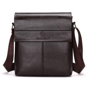 Män Business PU Casual Outdoor Crossbody Messenger Bag Portfölj
