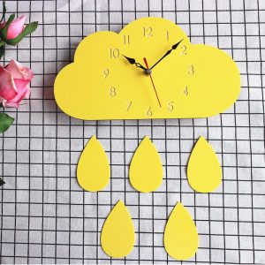 Cloud Wall Clock Home Cartoon Living Room Creative Wall Clock